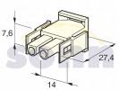 zásuvka  -  2pólová  pro kolíky  12.01210
