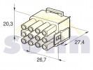 zásuvka  - 12pólová  pro kolíky 12.01210